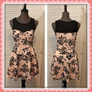 Trixxi Light Pink Floral Print Dress